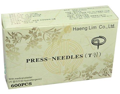 Haeng Lim Haeng Lim Ear Press T Typ Needle 600 Stück (Easy to Use)
