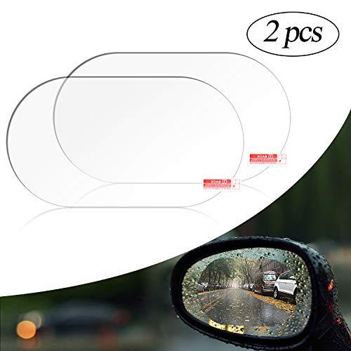 cococity Auto Rückspiegel Regenfest Fenster Schutzfolie Wasserdichte Folie Schutzfolie Anti Fog Film Cover 2 Stücke