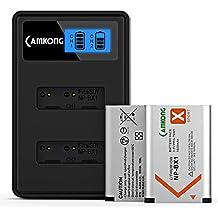CAMKONG 2 x NP-BX1 Batería + Cargador rápido Doble para Sony NP-BX1 / M8 Batería y Sony Cyber-Shot DSC-RX100, DSC-RX100 II, DSC-RX100M II, DSC-RX100 III, DSC-RX100 V RX100 IV, HDR-CX.