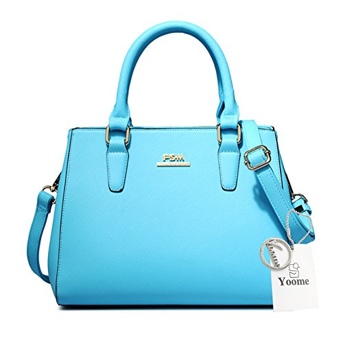 Yoome Alley Style Kreuz Muster Top Handle Satchel Damen Geldbörse Wallet New Chic Taschen Crossbody - L.Blue L.Blue