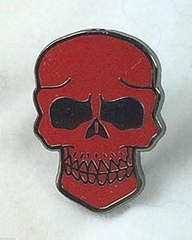 Crâne de Pirate et os croisés Jolly Roger de Badge broche crâne Rouge