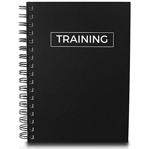Dein Trainingstagebuch für langfristiges Krafttraining - Steigere deine Motivation durch sichtbaren Fortschritt | Fitnesstraining, Kraftsport, Crossfit, Bodybuilding (Schwarz, DIN A6)