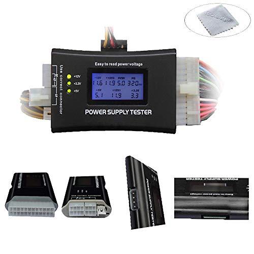 Boladge 20/24 Pin ATX BTX ITX Herramienta de detección de energía Pantalla LCD Ordenador Fuente de alimentación probador