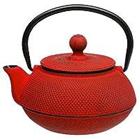 Théière mini en fonte 60cl Doty coul: Rouge Thé Tisane - infusion - s'utilise avec du thé vert, thé blanc, thé noir, Rooibos, les infusions fruitées, les mélanges de Maté, les infusions épicéés Chai