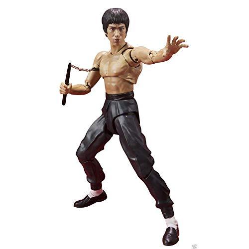 """Househome Muñeca de acción, juguete de decoración de 5.5""""Bruce Lee 75 aniversario."""