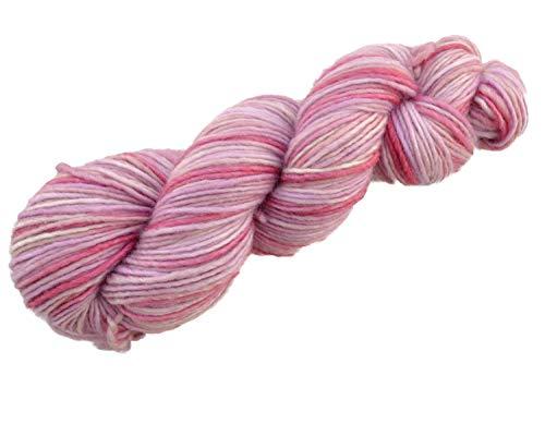 Manos del Uruguay Silk Blend Fb. SB3176 - Shortcake, 50g Merinowolle mit Seide, handgefärbt mit wunderschönem Farbverlauf, Wolle mit Seide zum Stricken -
