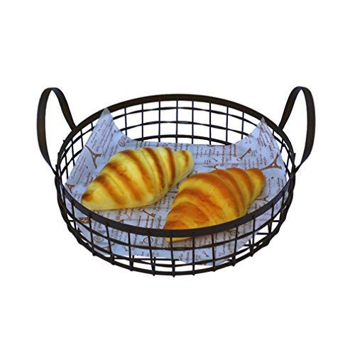 ZN-Cake stand Art de Fer Antique Grille Donut/Pain Présentoir, Pâtisserie Vitrine/Prop Décoration Décoration Support de Rangement de Cuisine, Noir / 28 * 13cm