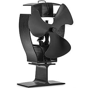 VonHaus Ventilador de Estufa de 3 Aspas Oscilantes – Accionado Por Calor Para Quemadores De Leña / Troncos: Rentable…