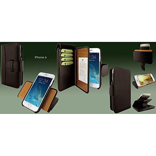 Piel Frama 678COM Etui Portefeuille pour iPhone 6 Effet Crocodile Marron marron