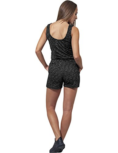 Urban Classics Damen Jumpsuit Ladies Melange Hot, Mehrfarbig (Darkgrey/Grey 488), X-Large - 3
