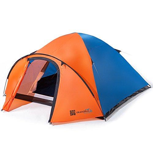 Orange SKANDIKA Mora Tente de Trekking pour 3 Personnes Mixte Adulte 320 x 230 cm