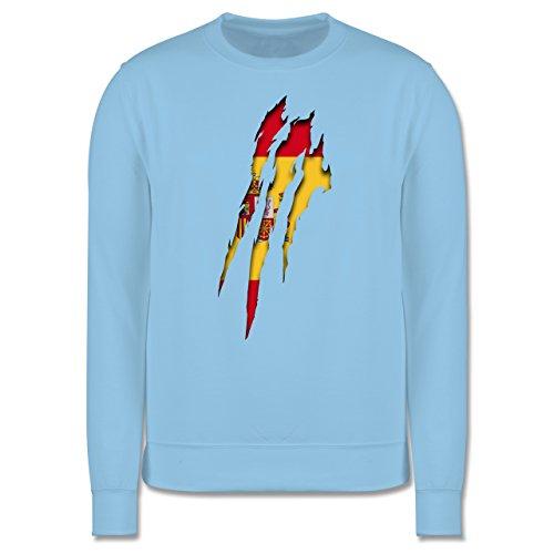 Länder - Spanien Krallenspuren - Herren Premium Pullover Hellblau
