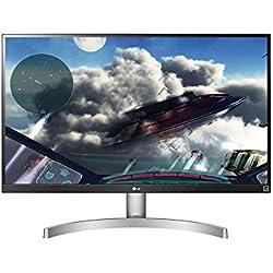 "LG 27UK600 Monitor, 27"", LED IPS UltraHD 4K HDR 10, 3840x2160, AMD FreeSync, 1 Miliardo di Colori (10bit), 2x HDMI 1x Display Port, Uscita Audio"