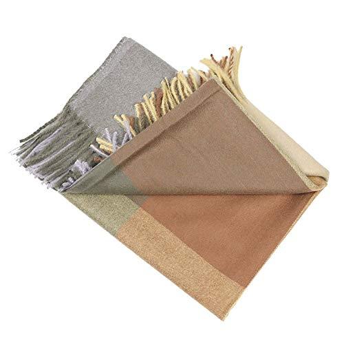 NQING Kaschmirschal Thick Warm Stripes Square Unisex Wilder Herbst Und Winter Dekorativer Schal E 70x200cm