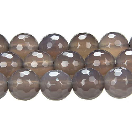Thetastejewelry 6 mm Rond Coupé à la main Gris foncé Perles d'agate 38,1 cm 38 cm Bijoux Collier pouvoir de guérison