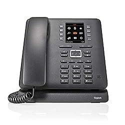 Gigaset T480HX Büro Telefon - schnurloses DECT Tischtelefon mit Headset-Anschluss, Freisprechfunktion, Farbdisplay - Kompatibel mit Fritzbox, schwarz