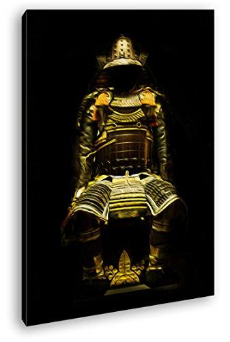 Dark goldene Samurai Rüstung Effekt: Zeichnung Format: 60x40 als Leinwandbild, Motiv fertig gerahmt...