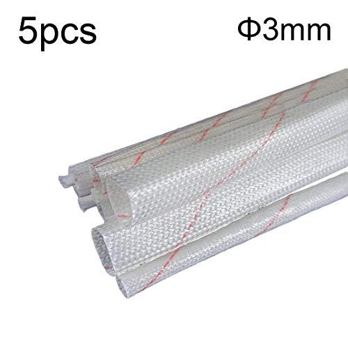 Robluee Manicotti isolanti polietilene per cavi elettrici ignifughi isolanti fibra di vetro trecciata protezione termica ad alte temperature Set da 5