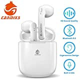 CanMixs Auricolari Bluetooth, T12 Senza Fili TWS Cuffie Bluetooth 5.0 Riduzione del Rumore Wireless Stereo Sportivi in Ear Auricolare Bluetooth con Custodia da Ricarica Microfono per IOS, Android