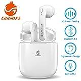 CanMixs Auricolari Bluetooth, T12 Senza Fili TWS Cuffie Bluetooth 5.0 Riduzione del Rumore Wireless Stereo Sportivi in Ear Auricolare Bluetooth con Custodia da Ricarica Microfono per IOS, Android