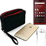 K-S-Trade® TOP SET: Belt Pack For Blackberry KEY2 Red