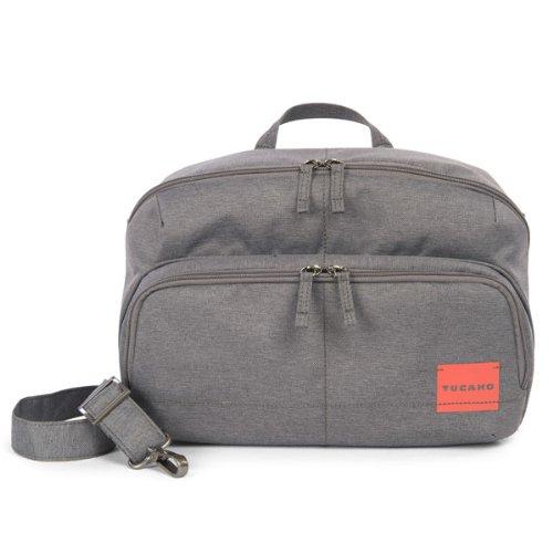 Tucano CBC-L-G Contatto Tasche für Reflex Kamera Größe L (2 Außenfächer, Handgriff, verstellbarer Trageriemen) grau (Reflex-kamera)