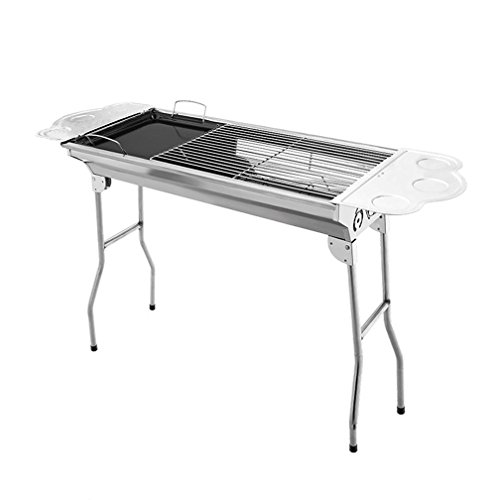 XW Outdoor Grill Home Edelstahl Grill 5oder mehr Holzkohle-Grill, 73* 33* 70CM