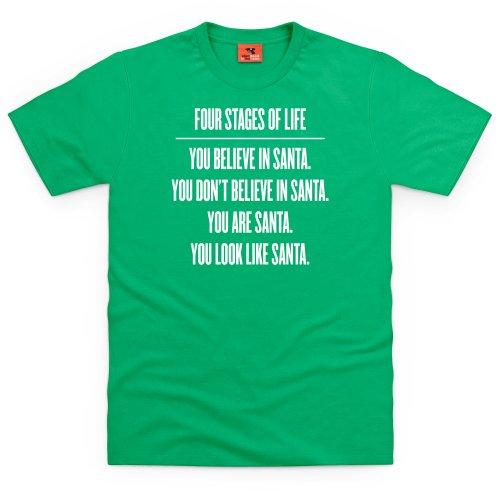 Four Stages of Life T-Shirt, Herren Keltisch-Grn
