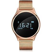 Reloj Inteligente para Hombre y Mujer Smartwatch con OLED Pantalla Táctil Monistor de sueño Cámara Podómetro