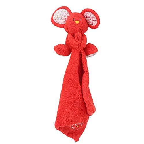 Baby Handtuch, weiche süße Maus beschwichtigen Handtuch Neugeborenen beruhigende Emotion Handtücher Infant Register Shower Geschenk(rot)