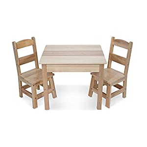 Melissa & Doug- Wooden Table & Chairs Set (12427)