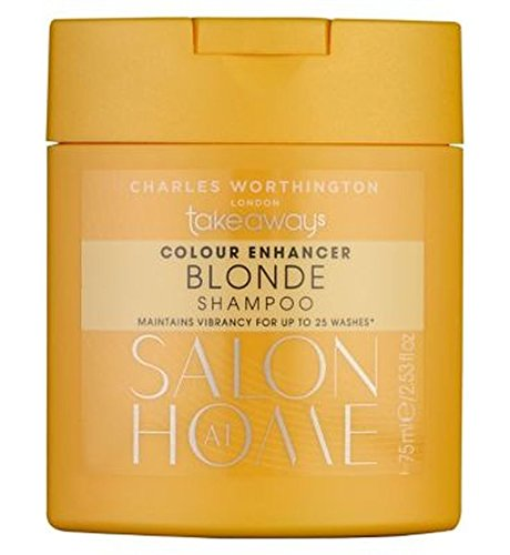 Charles Worthington Color Enhancer Blonde Shampoo 75Ml - Packung mit 2 (Haar-color-enhancer)