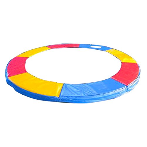 Greenbay 6FT 183cm Premium Replacement Trampoline Surround Pad | UV resistant PVC top | EPE foam(thickness:15mm, width:300mm) | Safety Guard Spring Cover Padding Pads Tri-Colour