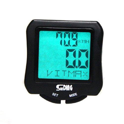 tourwin Sunding sd-570filaire pour vélo Ordinateur de vélo écran LCD rétroéclairé Odomètre Compteur Multifonction imperméable Noir