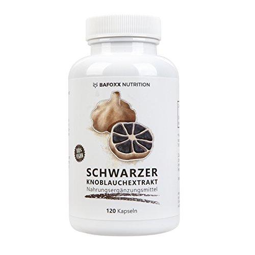 SCHWARZER KNOBLAUCH EXTRAKT 120 Kapseln - Nur für kurze Zeit zum Einführungspreis - Hochdosiertes Naturprodukt mit Schwarzer Knoblauchextrakt 10:1 - fermentiert und geruchslos - vegan - hergestellt in Deutschland