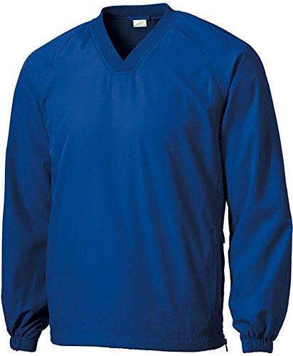 Joe's USA Herren Athletic V-Neck Raglan Windshirt in Jugend Regular und Tall Größen XS-6XL - Blau - Erwachsene Regulär X-Large (54-56) Links Windshirt