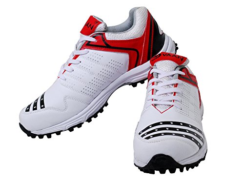 Pro-Xtreme Rubber Spikes/Stud Cricket Shoes (White), UK 10  available at amazon for Rs.1199