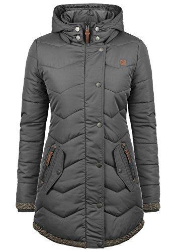 Desires denise parka giacca tranpuntata giubbino da donna con cappuccio, taglia:xs, colore:dark grey (2890)