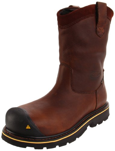 Keen Utility Men's Dallas Wellington Steel Toe Work Boot,Dark Brown,13 2E US Steel Toe Wellington Boot