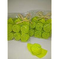 Serviettes de table Rosier en verdoyant,ensemble de 12, pour bapteme, anniversaire, communion,mariage, Cadeaux, Souvenirs et toutes occasions speciales