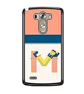 PrintDhaba LGG3bet M D-2636 Back Case Cover for LG G3 (Multi-Coloured)