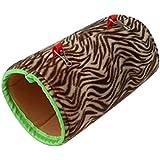 Yunt Nest Hängendes Kleintierhaus Rascheltunnel aus Baumwolle Plüsch Zebra-Muster Leopard-Muster für Kleintiere Hamster Nager Meerschweinchen Ratten Kleinnager Hase Kaninchen