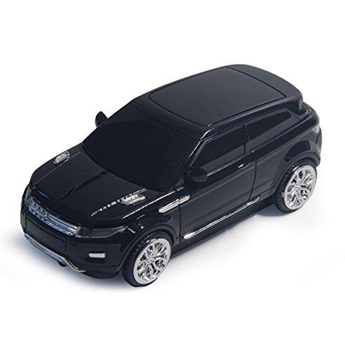 spectronix Wireless Auto mouse ottico a forma di Range Rover e design ergonomico   Nano Ricevitore USB 2.4GHz 1600DPI 10metri per PC portatili e Plug & Play in 4colori vivaci