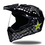Off-Road Full Face Motorradhelm, Erwachsene Anti-UV-Objektiv Flip Up Motorradhelm, Moto Safety Caps 55-62cm