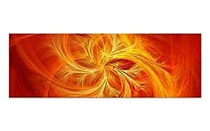 Deko-art acrylGlasBILD toile motif fIRE fLY aG39000363 oRANGE 90 x 30 cm en plexiglas ® original röhn avec bords polis pour de belles profondeur et en grand format avec suspension/main/chambre à coucher ou bureau/lIFESTYLE fERTIGBILD pas de toile attention !