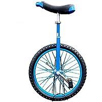 ZSH-dlc Monociclo Redondo Individual Adulto Adulto Altura Ajustable Ciclismo Ejercicio 16/18/20 Pulgada Azul (Tamaño : 20 Inch)