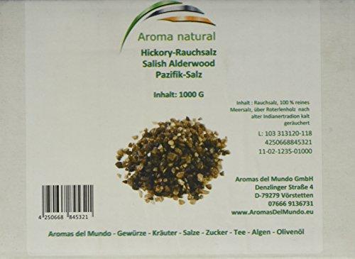 Aroma natural Hickory-Rauchsalz, Salish Alderwood Pazifiksalz 1 kg mittelfein, 1er Pack (1 x 1 kg)