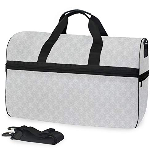 rgrund Large Travel Duffel Tote Bag Weekend Overnight Travel Bag Gym Bag Fitness Sports Bag with Shoes Compartment ()