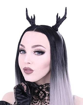 Schwarzer Gothic Kopfschmuck Deer Reh Harrreif - Hirschgeweih