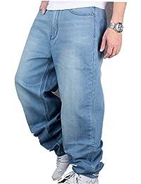 Ghope Pour Hommes Garçons Cargo Combat Jeans Étoile Jeans Le Temps Est De En Vrac Hip Hop Urbain Baggy